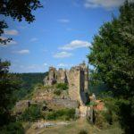 Grote foto van kasteel chateau Rocher.