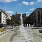 Innenstad Montlucon mit wasserf